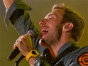 Coldplay perform a new track from their upcoming album, which is expected to be released in October.