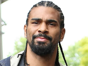 David Haye arriving at the ITV studios in London, England
