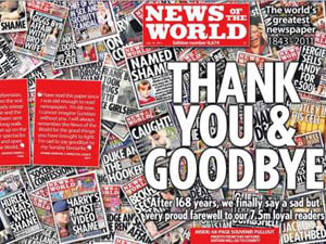 News of the World, Final Cover