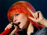Hayley Williams of Paramore performing with the band at Portugals Optimus Alive festival