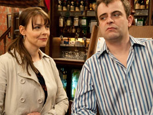 Tracy tells Steve about Becky's new man