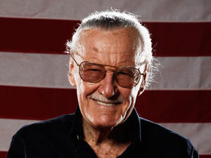 Stan Lee poses for a portrait at the LMT Music Lodge