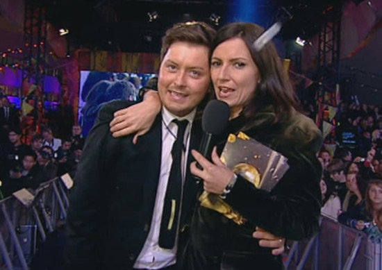 Brian Dowling and Davina McCall on Ultimate Big Brother 2010