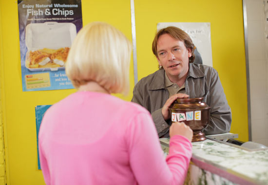 Ian Beale (Adam Woodyatt) and new girlfriend Cheryl