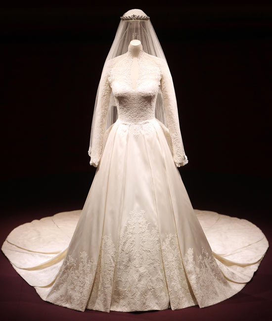 The Duchess of Cambridge's wedding dress - front