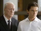 Michael Caine and Christian Bale in The Dark Knight