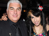 Amy and Mitch Winehouse at the Ivor Novello Awards 2008.