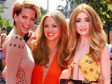 Sarah Harding, Kimberley Walsh and Nicola Roberts arrive at the world premiere of Horrid Henry at the BFI in London.