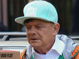 David Jason on the set of 'The Royal Bodyguard'