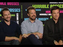 Jason Bateman, Jason Sudeikis and Charlie Day speak/shout about their upcoming projects.