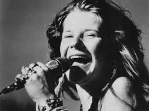 Janis Joplin - vocalist and songwriter.