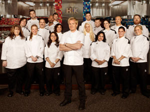 Gordon Ramsay and the contestants of 'Hell's Kitchen' season 9