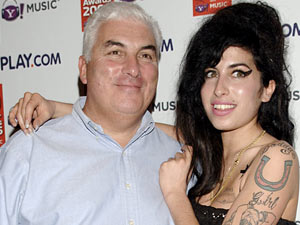 Amy and Mitch Winehouse at The Q Awards 2006.