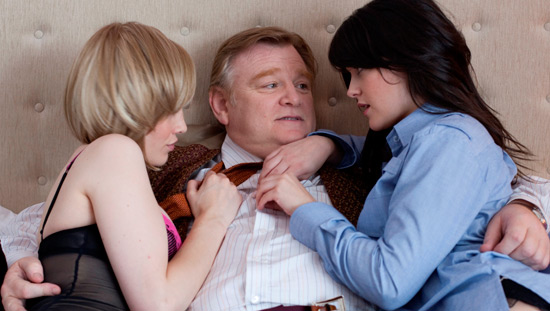 Dominic McElligott, Brendan Gleeson and Sarah Greene in 'The Guard'