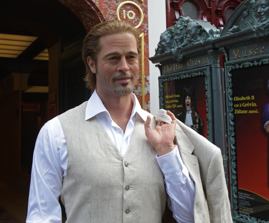 A Brad Pitt wax model presented in Paris