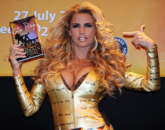 Katie Price World Record book signing