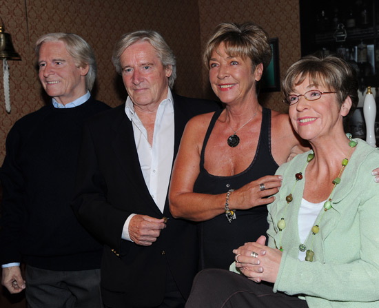 William Roach and Anne Kirkbride with their waxworks at Tussauds Blackpool