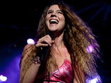 Joss Stone performs at an open air concert at Lisbon's Comercio square Saturday.