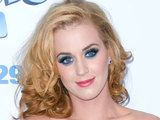 Katy Perry shows off her new blonde do at 'The Smurfs' world premiere held in New York City