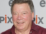 William Shatner arrives for the free outdoor screening of &#39;The Captains&#39; at the USS Intredpid Sea, Air and Space Museum New York.