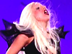 Lady GaGa performing on 'Jimmy Kimmel Live'