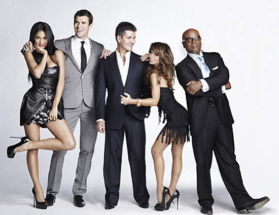 The US X Factor judges plus presenter Steve Jones
