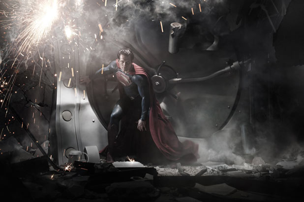 Teaser image of Henry Cavill as Superman