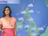 Lucy Verasamy presents the weather forecast