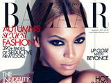 Beyonce on the cover of Harper's Bazaar September Issue