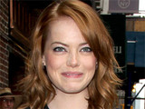 Emma Stone arrives at the Ed Sullivan Theatre in New York City ahead of an appearance on &#39;The Late Show with David Letterman&#39;