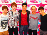 The Wanted backstage at Leeds City Council's Party in the Park, Leeds, England