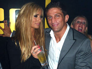 Alex Reid and Chantelle Houghton enjoy a night out together at Merah Club London.