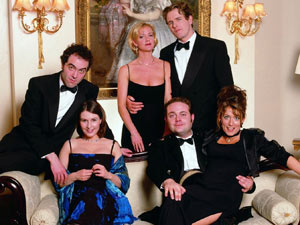 James Nesbitt, Helen Baxendale, Hermione Norris, Robert Bathurst, John Thompson and Faye Ripley in Cold Feet