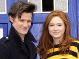 Matt Smith (who plays Dr Who) and Karen Gillan (who plays Amy Pond)