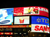 Adverts at Piccadilly Circus, London, England, Britain.