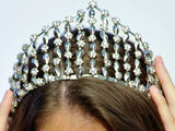 Tiara on the head of a beauty queen