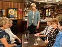 Marc walks into The Rovers dressed as Marcia in tonight's Coronation Street double bill.