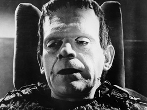 Boris Karloff as Frankenstein's creature