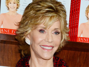 Jane Fonda attends a meet, greet and signing to promote her new book 'Prime Time' at a Barnes and Noble store in New York City