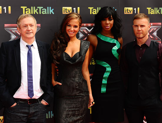 The judges at The X Factor 2011 launch