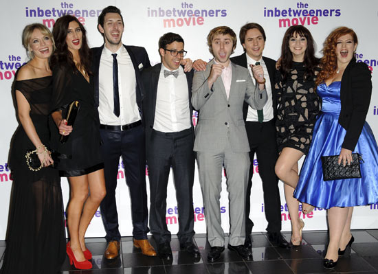Laura Haddock, Jessica Knappett, Blake Harrison, Simon Bird, James Buckley, Joe Thomas, Tamla Kari, and Lydia Rose Bewley.