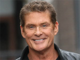 David Hasselhoff arrives at the ITV studios in London, England