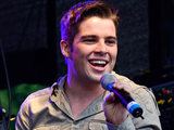 Joe McElderry performs at Brighton Gay Pride 2011 held at Preston Park Brighton.