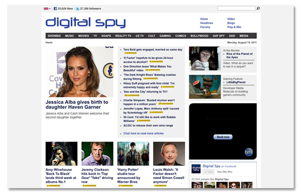 Digital Spy refresh 2011