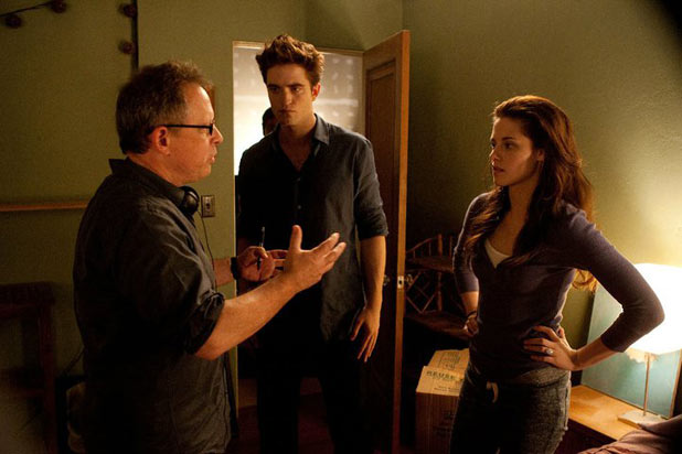 Twilight Breaking Dawn: Bill Condon, Robert Pattinson and Kristen Stewart