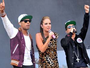 NDubz share their music with the crowd