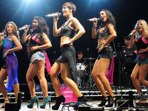 The Saturdays add a mixture of pop and fashion to the festival