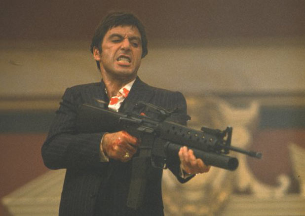 Tony Montana assault rifle