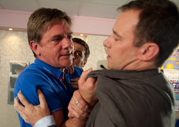 Karl grabs Frank