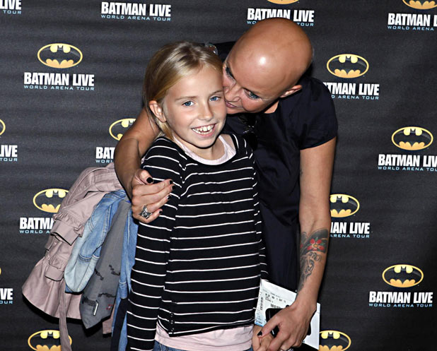 Gail Porter and her daughter arrive at the Batman Live Launch